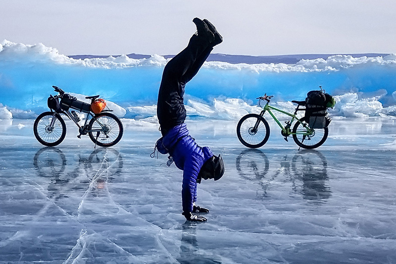 Ice Cycling in Mongolia photo by Nitin Gera